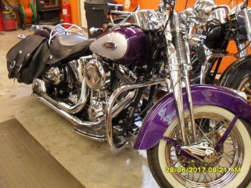 2001 Harley-Davidson FLSTS – Heritage Springer Softail — Purple for sale