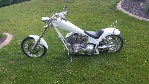 2003 American Ironhorse Texas chopper White photo