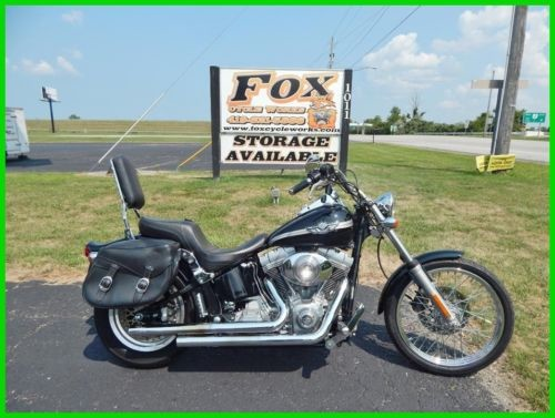2003 Harley-Davidson Softail Vivid Black / Sterling Silver Pinstripes photo