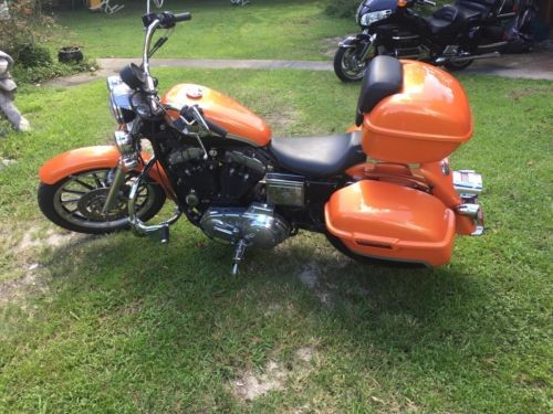 2003 Harley-Davidson Sportster orange and black photo