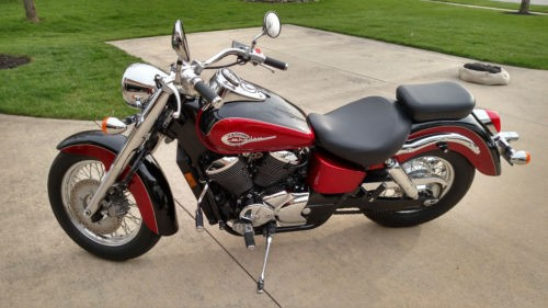2003 Honda Shadow Burgundy photo
