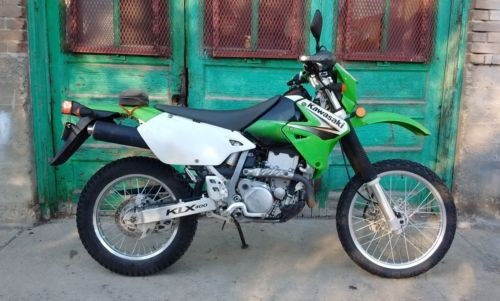 2003 Kawasaki KLX Green White photo