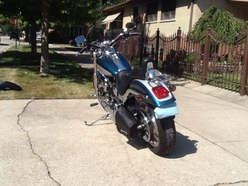 2004 Harley-Davidson Softail Silver/Teal photo