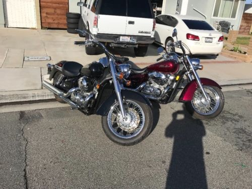 2004 Honda Shadow Burgundy photo
