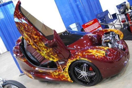 2005 Custom Built Motorcycles Roadster Custom Painted (maroon with flames) for sale craigslist