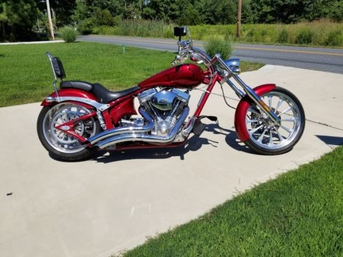 2006 Big Dog chopper Red and Flames photo