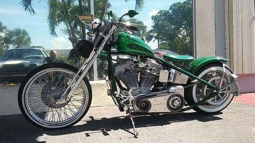 2006 Custom Built Motorcycles Bobber green metal flake photo
