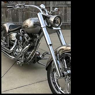 2007 Custom Built Motorcycles Chopper SILVER photo