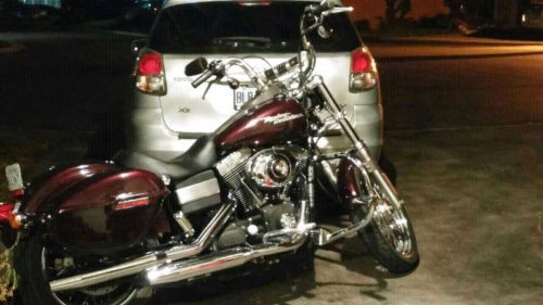 Harley-Davidso<wbr/>n: Dyna black cherry red photo&#8221;><br /><span id=