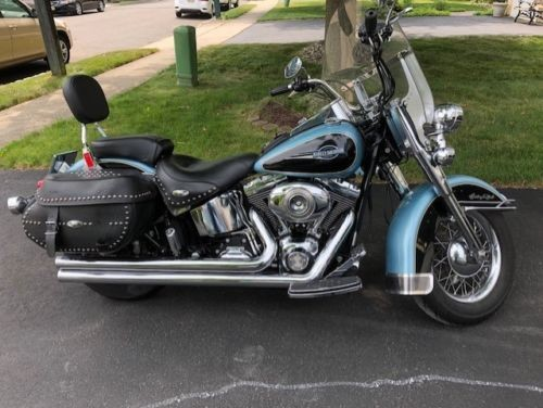 2007 Harley-Davidson Softail Blue and Black photo