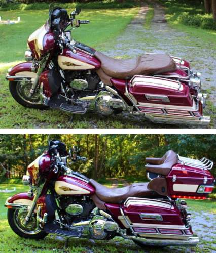 2007 Harley-Davidson Touring Burgundy and Creme Gold Pearl photo