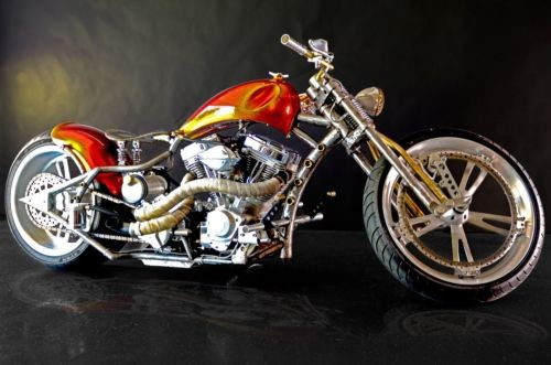 2008 Custom Built Motorcycles Bobber Orange photo