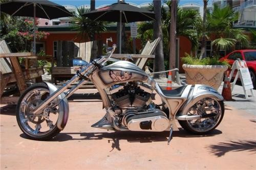 2008 Custom Built Motorcycles Pro Street Silver photo