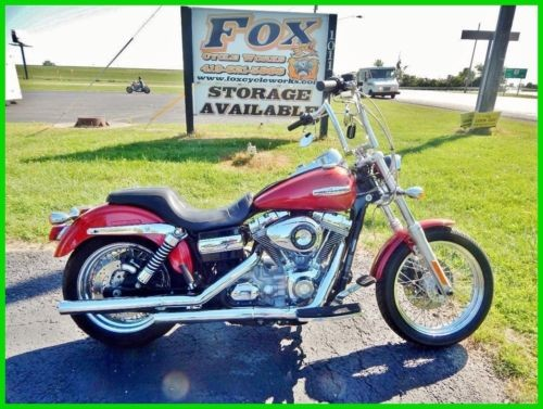 2008 Harley-Davidson Dyna Candy Red Sunglo / Gloss Black photo