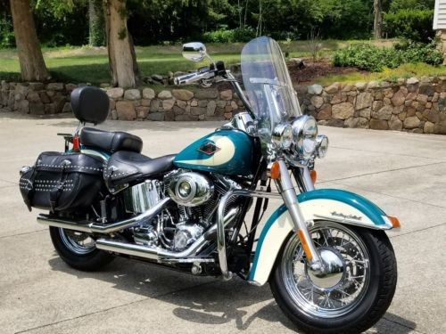 2009 Harley-Davidson Heritage Softail Turquoise / Cream for sale