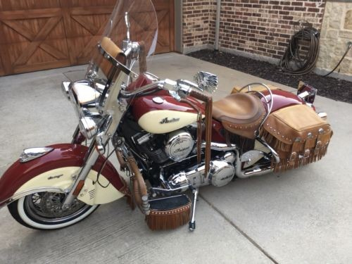 2009 Indian Vintage Chief Red and Cream photo
