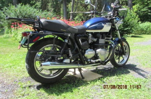 2009 Triumph Bonneville Blue/white for sale
