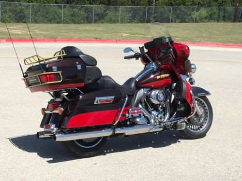 2010 Harley-Davidson Ultra Limited Harley Limited Custom Maroon and Red photo