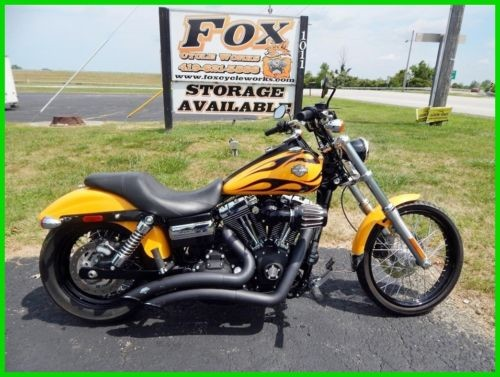2011 Harley-Davidson Dyna FXDWG Wide Glide® Chrome Yellow / Black Flames photo