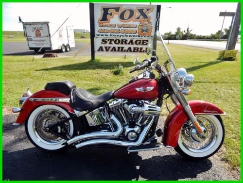 2012 Harley-Davidson Softail FLSTN  Deluxe Ember Red Sunglo / White Pinstripe photo