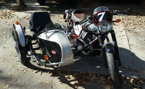 2013 Moto Guzzi V7 Racer with Kozy Sidecar Silver photo