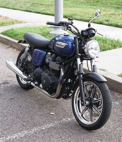 2013 Triumph Bonneville Pearl Navy for sale