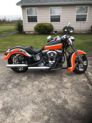 2014 Harley-Davidson Fat Boy Orange photo