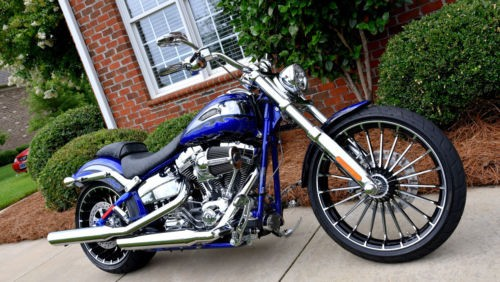 2014 Harley-Davidson Softail Candy Cobalt and Molten Silver photo
