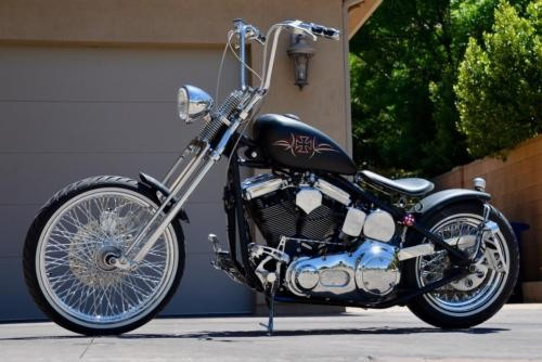 2015 Custom Built Motorcycles Bobber Old School Springer Bobber Black for sale