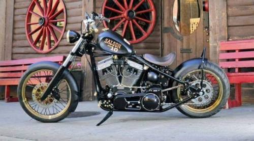 2016 Custom Built Motorcycles Bobber Black photo