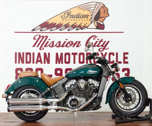 2018 Indian Scout® Metallic Jade -- Gray photo