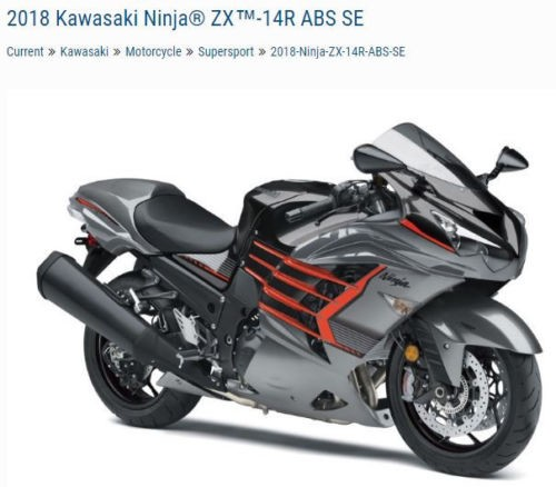 2018 Kawasaki Ninja ZX1400JJFL Gray for sale craigslist