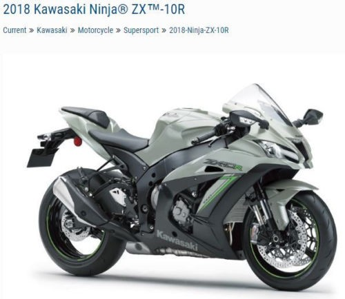 2018 Kawasaki ZX-10R ZX1000RJFL Silver for sale