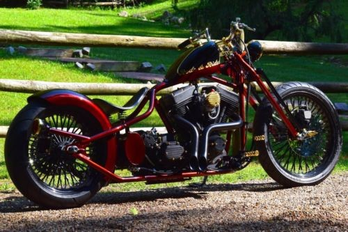 2019 Custom Built Motorcycles Bobber Brown photo