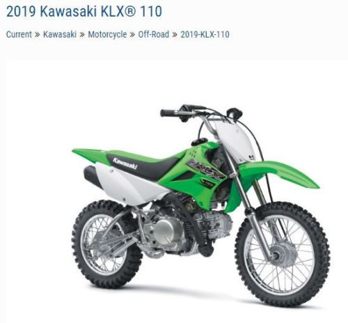 2019 Kawasaki KLX110 -- Green photo