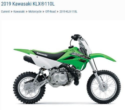 2019 Kawasaki KLX110L KLX110DKF Green photo
