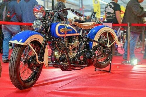 1936 Harley-Davidson VLD Venetian Blue&Crayden Cream for sale