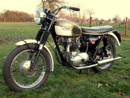 1966 Triumph Tiger T100SS FREE SHIPPING, FAIR RESERVE IVORY/GOLD for sale craigslist