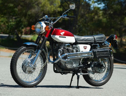 1968 Honda CL Red photo