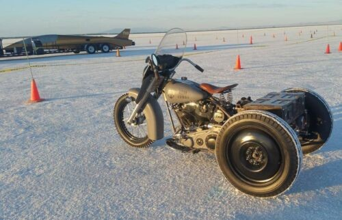 1974 Harley-Davidson custom shovelhead servicar Gray photo