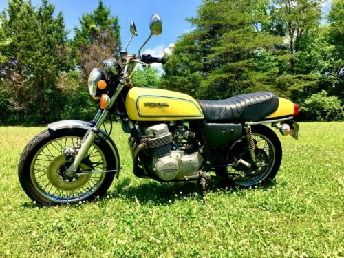 1976 Honda CB Yellow photo