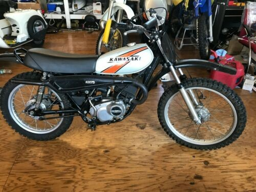 1977 Kawasaki KD175 Silver for sale