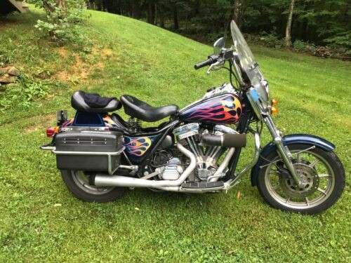 1990 Harley-Davidson FXR Blue photo