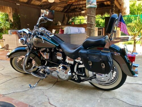 1996 Harley-Davidson Heritage Softail Green photo
