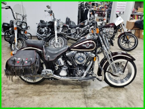 1998 Harley-Davidson FLSTS Heritage Softail Springer - 95Th Anniversary Midnight Red / Champagne Pearl photo
