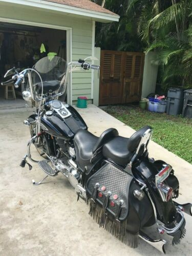1998 Harley-Davidson Heritage Softail Springer FLSTS Black photo