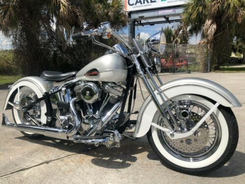 1998 Harley-Davidson Softail Pearl Silver / Pearl White photo
