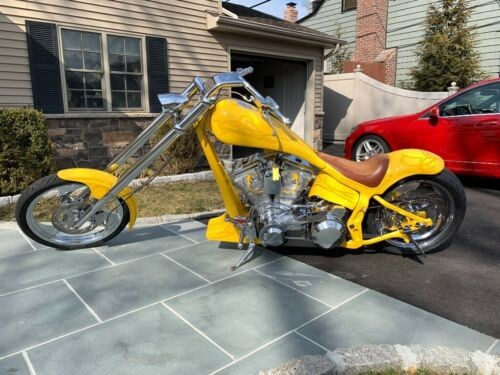 2000 Custom Built Motorcycles Chopper Yellow photo