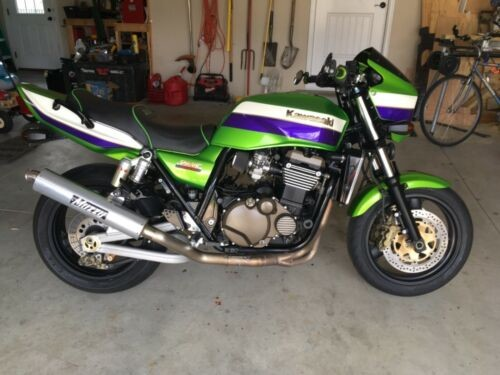 2001 Kawasaki ZRX 1200r Green photo