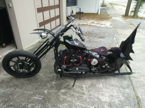 2002 Custom Built Motorcycles Chopper Black photo